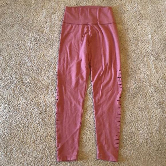 aerie Pants - Aerie high waisted slit blush pink leggings